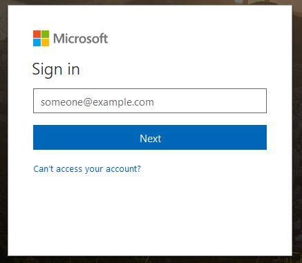 First stage login for home email access