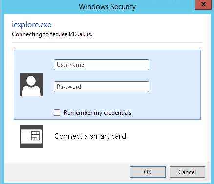 Authentication popup for IE