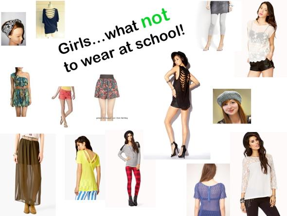 Girls, what not to wear at school