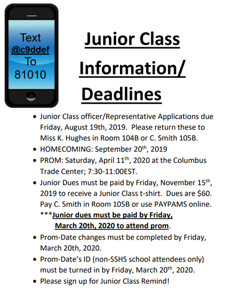 Info for Juniors