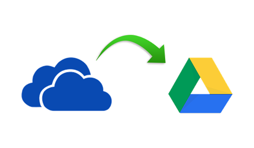 Microsoft OneDrive and Google Drive logos