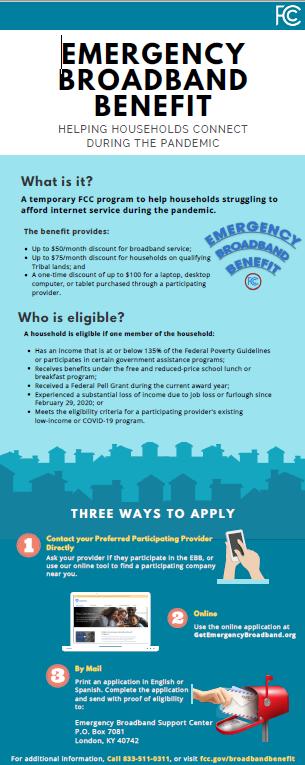 Emergency Broadband Benefit Infographic
