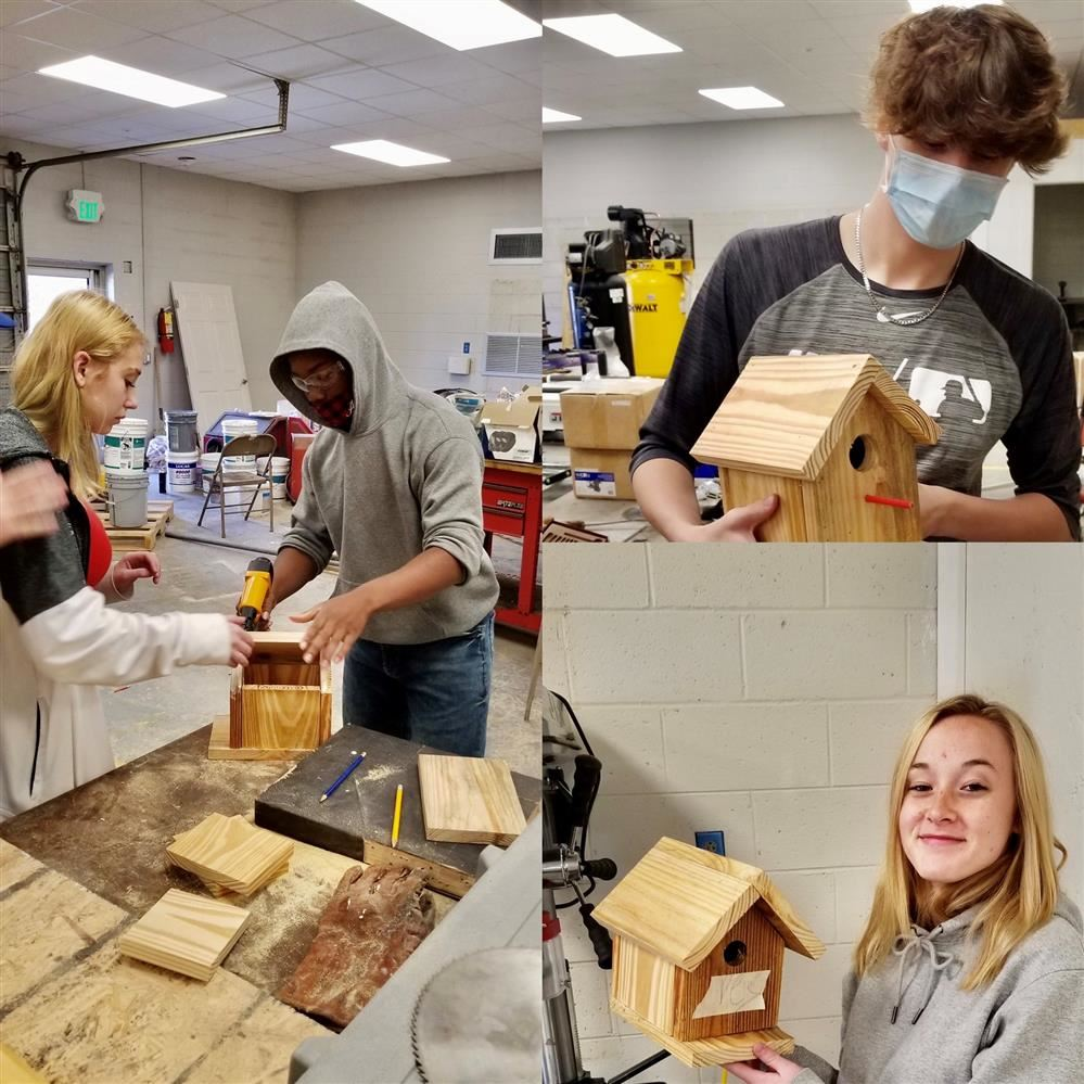 Students Complete Building Project In Mr. Miller's Construction Classes